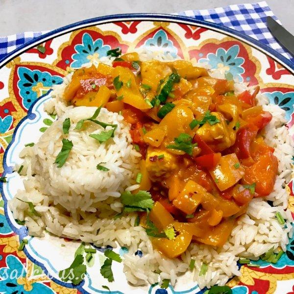 Overheerlijke Paprika curry met rijst