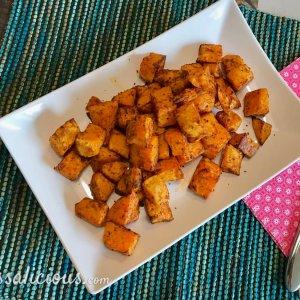 Patatas Bravas van zoete aardappel