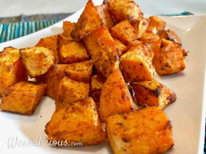 lekkere Patatas Bravas van zoete aardappel