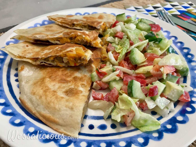 resultaat Quesadilla's met zoete aardappel