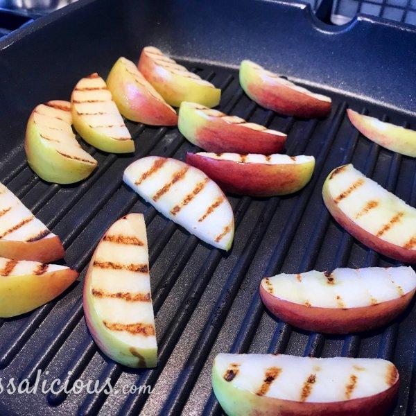 Appel grillen