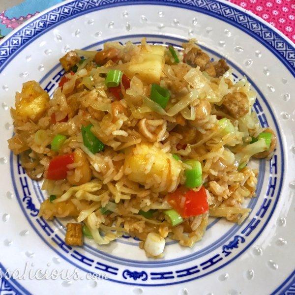 Lekkere Topische nasi met ananas