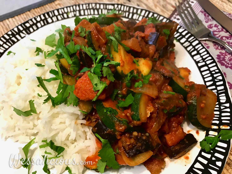 Arabische groenten met rijst