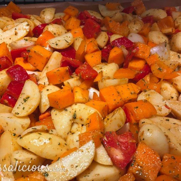 voorbereiding Aardappel roast