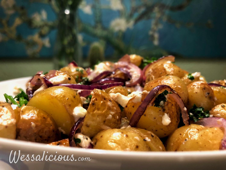 Griekse aardappeltjes met feta