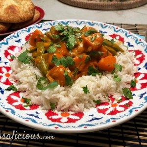 Indiase curry met zoete aardappel