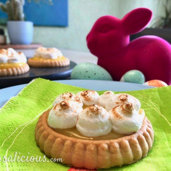 Lemon Curd taartjes met meringue