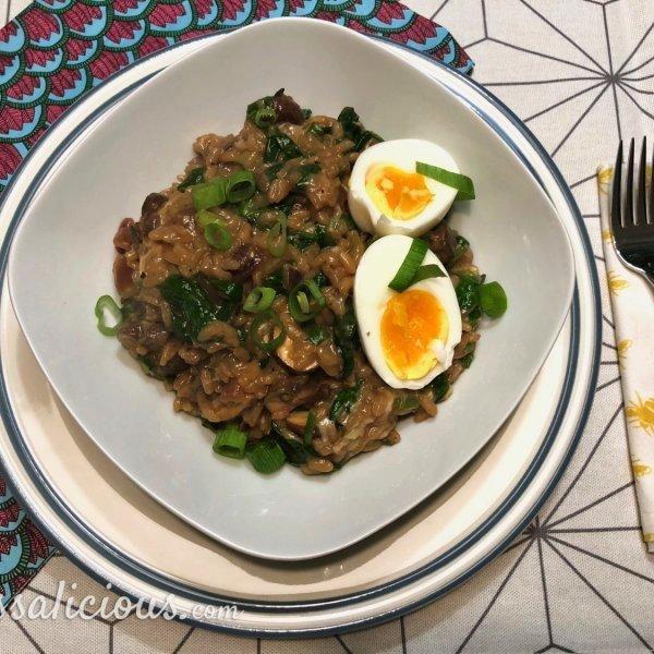 Romige Risotto met truffel en champignons