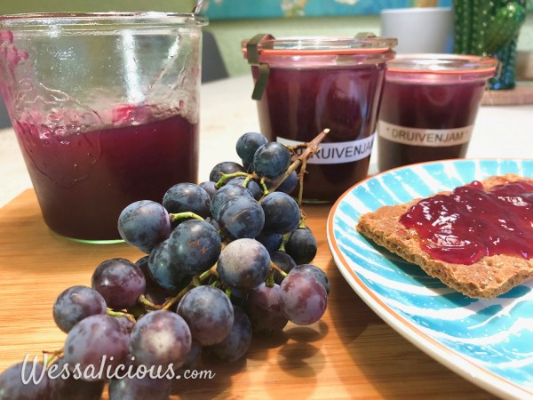 zelfgemaakte druivengelei