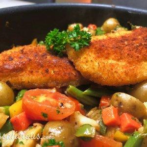 Winterse groenteschotel met kriel