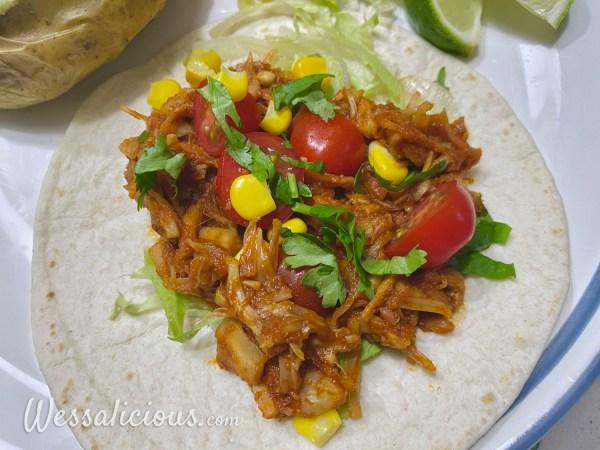Pulled jackfruit taco's