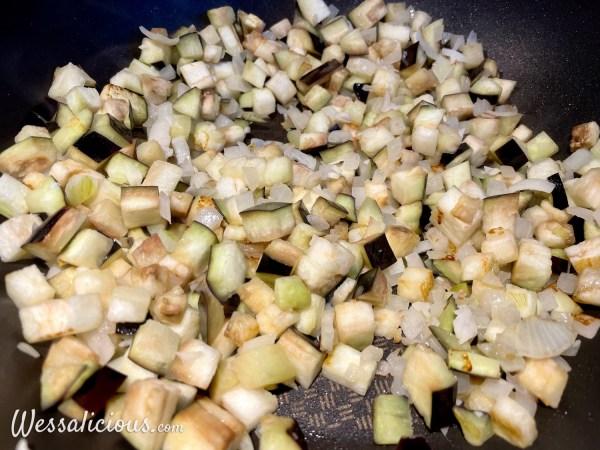 voorbereiding Pasta alla Norma
