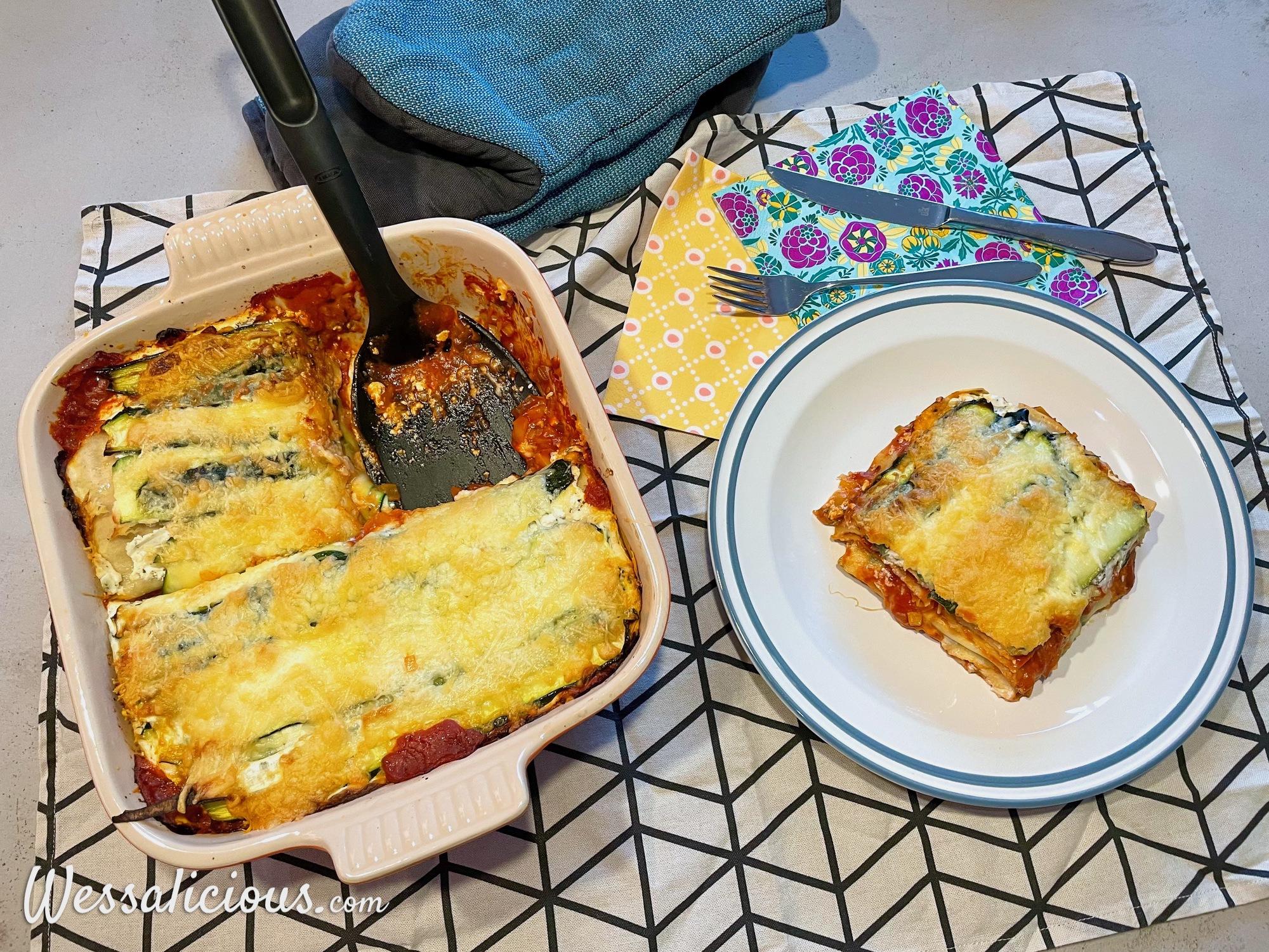 Makkelijke lasagne met courgette
