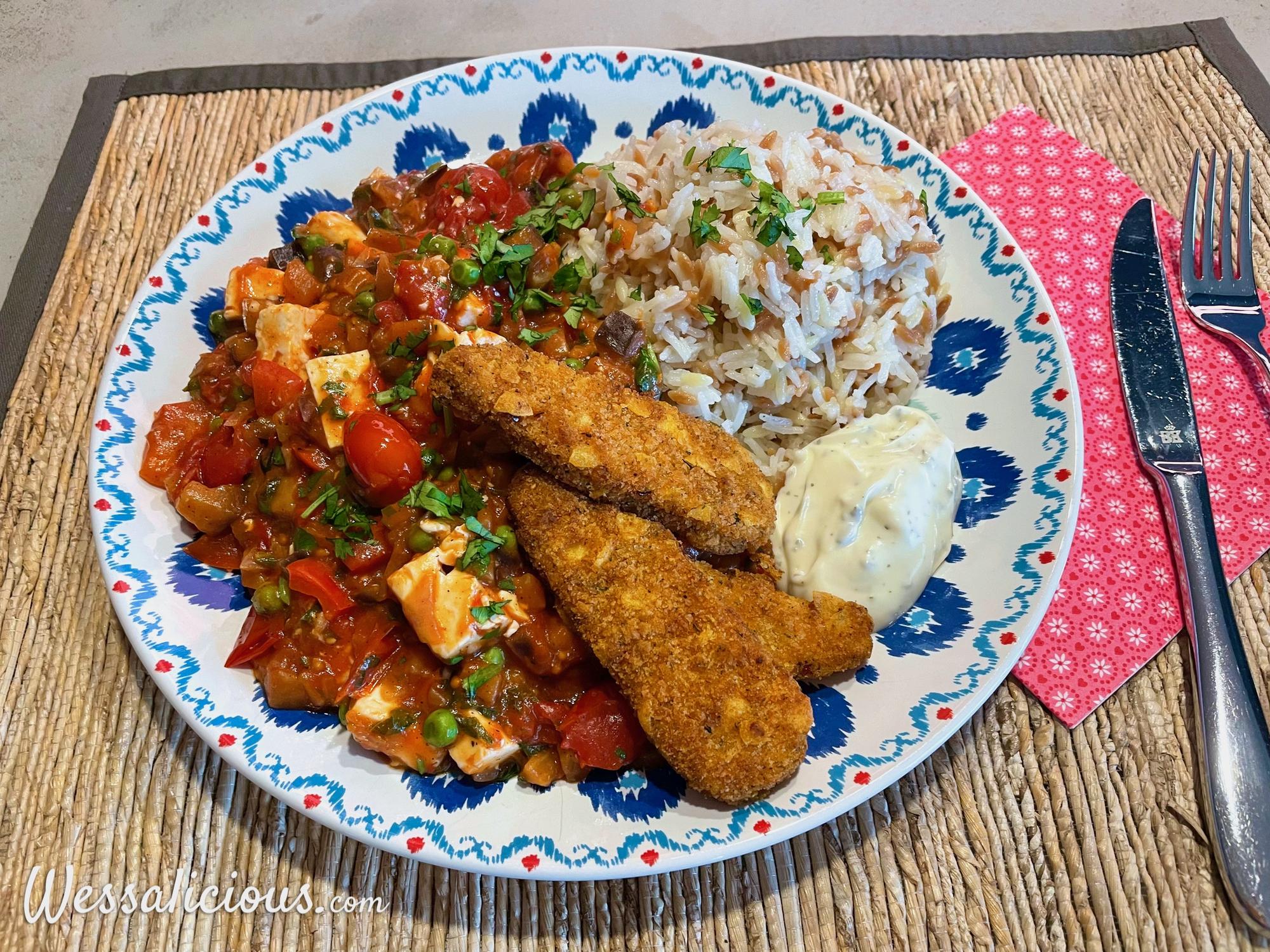 Turkse pilav met groenten