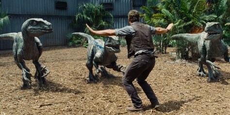 Chris Pratt versucht sich in der Rolle des Helden Owen als Dinoflüsterer.