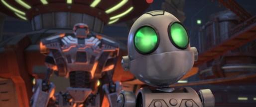 Clank sollte ursprünglich ein Kriegsroboter werden, ist dafür aber etwas zu klein geraten.
