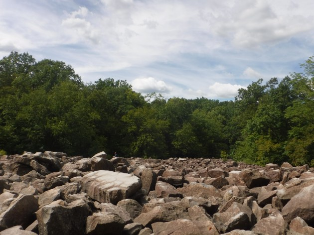 The boulderfield at Ringing Rocks Park