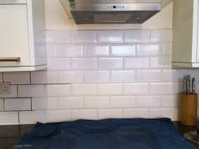 Grout during recolouring at Stockton Heath kitchen