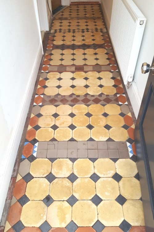 Victorian Tiled Hallway After Cleaning in Grappenhall