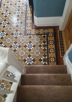 Victorian Tiled Hallway Grapenhall After Cleaning