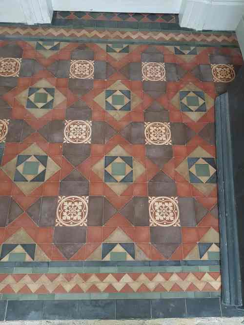 Victorian Tiled Porch Floor Before Cleaning Cressington