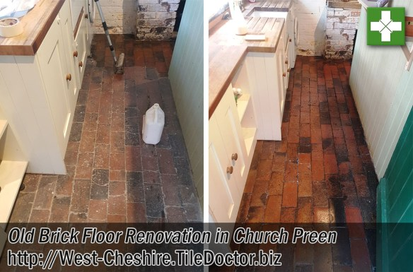Old Brick Floor Renovation in Church Preen