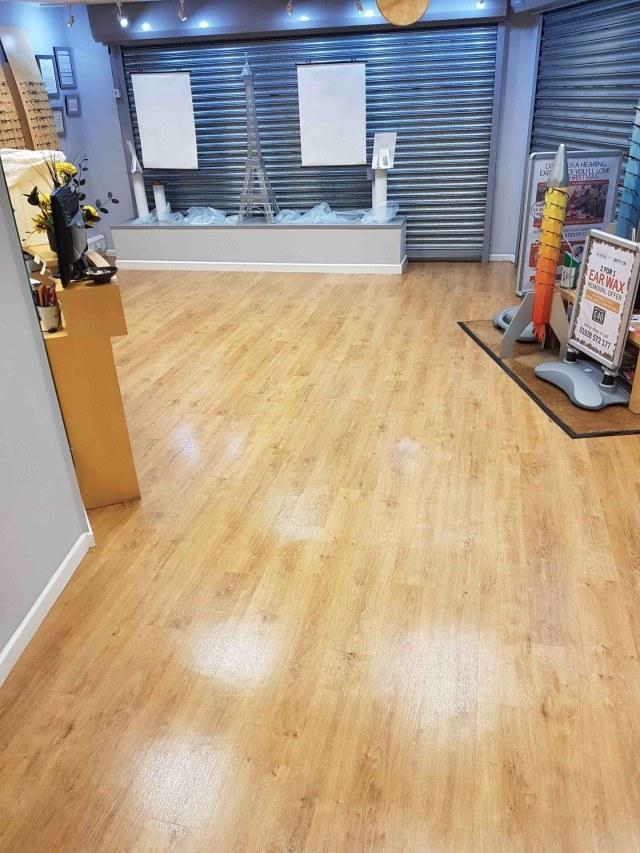 Opticians Vinyl Floor After Cleaning Stockton Heath