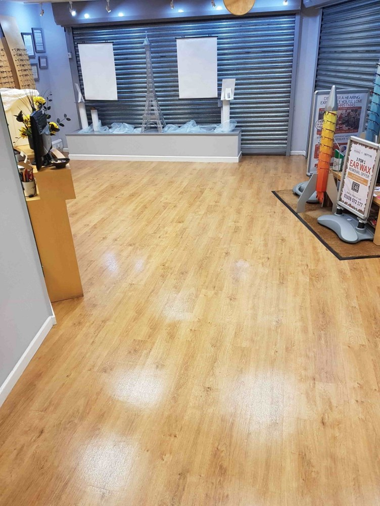 Opticians Vinyl Floor After Cleaning Stockton Heath