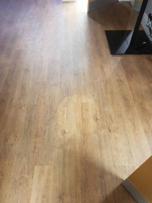 Opticians Vinyl Floor Before Cleaning Stockton Heath