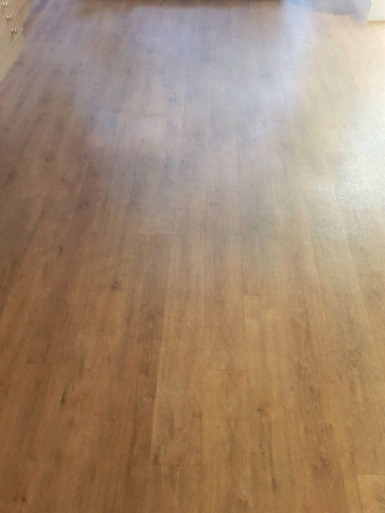 Opticians Vinyl Floor Before Cleaning Stockton Heath