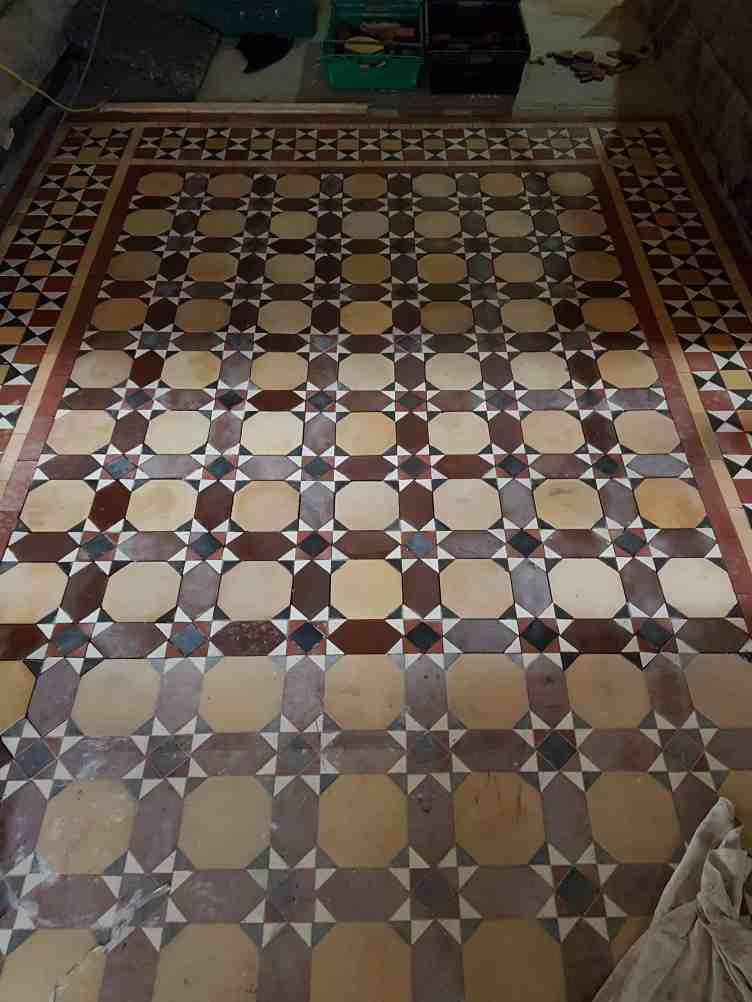 Victorian Floor During Installaton and Restorattion Aston Park House Great Budworth Northwich