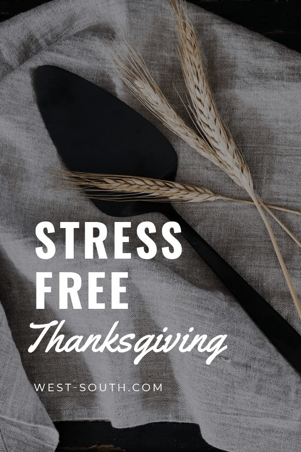 Pin image for Stress Free Thanksgiving