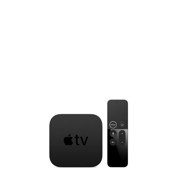 image of 4k apple tv and apple tv remote