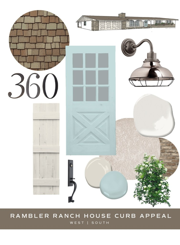 image showing curb appeal ideas for a rambler ranch house