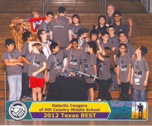 2012 Hill Country Middle School Galaxy Cats BEST Team