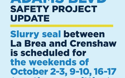 Adams Blvd Safety Project Update