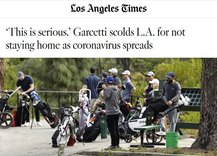 L.A. Times article - Garcetti scolds LA