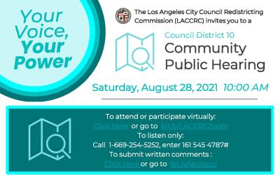 Redistricting: Community Public Hearing