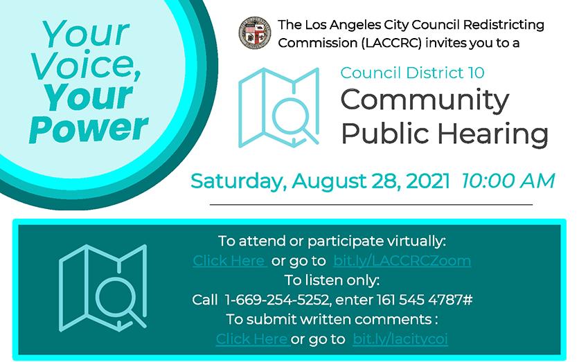 Council District 10 Community Public Hearing