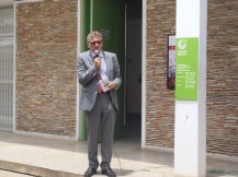 On this picture: Ambassador Rüdiger John welcomes all visitors of the Goethe Institut Accra on the 3rd of October 2015