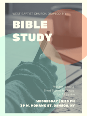Bible Study at West Baptist