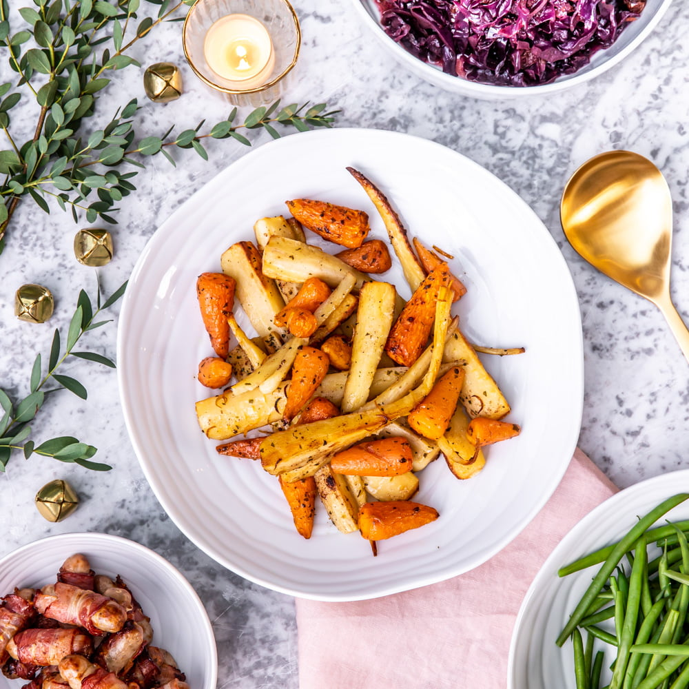 Roasted ChatntenayCarrots and parsnips