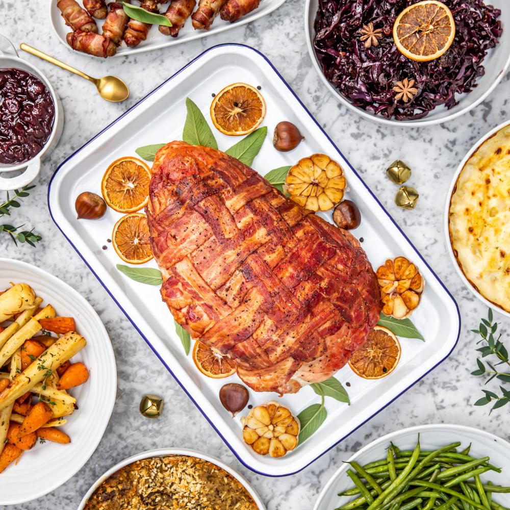 Turkey with Bacon Lattice