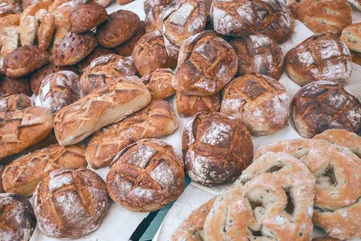 collection of delicious baked goods in local bakery
