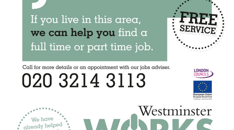 Need A Job - Westminster Works latest flyer