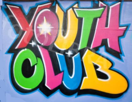 Youth Club graffitti style logo