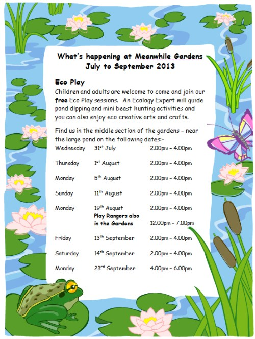 Free Summer Play @ Meanwhile Gardens