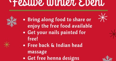 Community Champions Bring & Share Festive Winter Event Bring along food to share or enjoy the free food available Get your Nails Painted for free! Free back and Indian Head Massage Get free henna designs Arts and crafts for children Raffle prize Thursday 6th December 2 pm to 5 pm at The Stowe Centre 258 Harrow Road W2 5ES