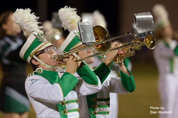 Photo by Dan Hockett West Burlington Marching Band plays during halftime Friday night in West Burlington.