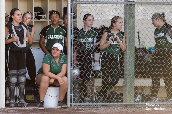Photo by Dan Hockett West Burlington – Notre Dame Teammates wait their turn at bat against Central Lee in Class 3A, Region-4 quarterfinal, Tuesday night in West Burlington. West Burlington – Notre Dame defeated Central Lee, 9-1.